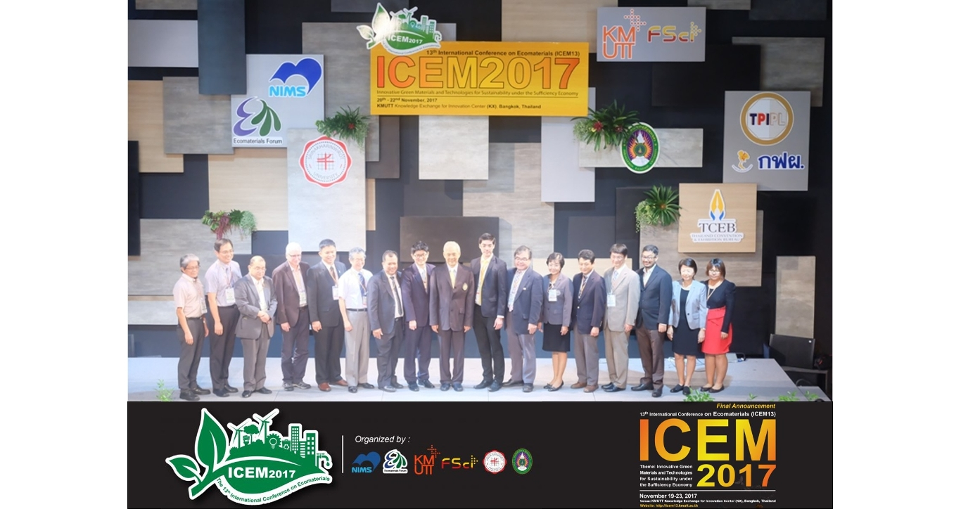 The International Conference on Ecomaterials 13th (ICEM13)